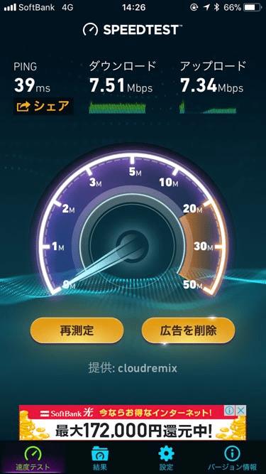 b-mobile Sの速度の画像